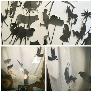 shadow puppet show collage