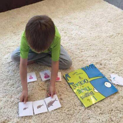 free printable ocean creature sorting game for preschoolers