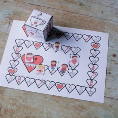 Printable Valentines Board Game to Play with Toddlers and Preschoolers