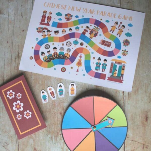 Lunar New Year Printable Board Game to Play with Kids