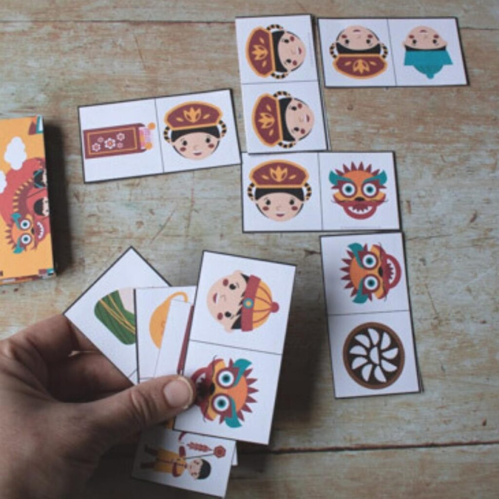 Chinese New Year Printable Domino Game for Kids