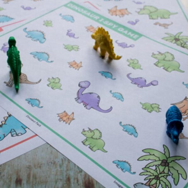 Dinosaur I Spy Counting Game for Toddlers and Preschoolers