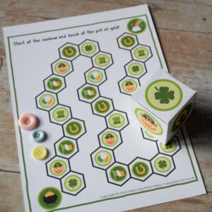 St Patrick's Day Free Printable Board Game for Toddlers and Preschoolers