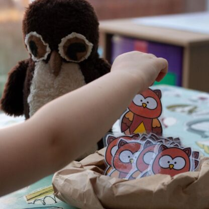 Free printable Owl Shape Game for Toddlers and Preschoolers