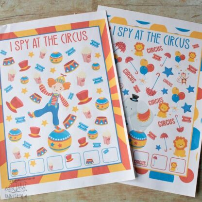 i spy at the circus counting game for toddlers and preschoolers