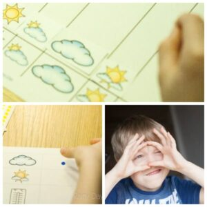 weather graphing morning time printable activity for preschoolers