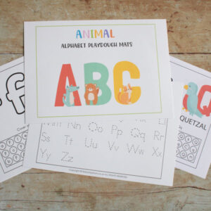 Animal ABC Letter Learning Playdough Mats
