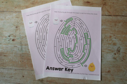 the maze and answer key