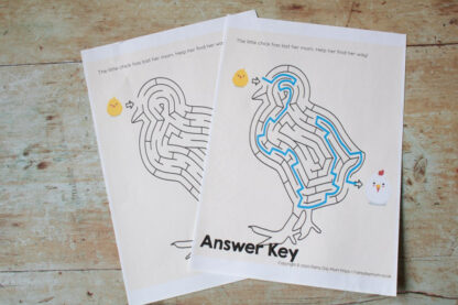 easter chick maze with answer key