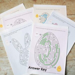 Easter Shape Mazes pack of 3