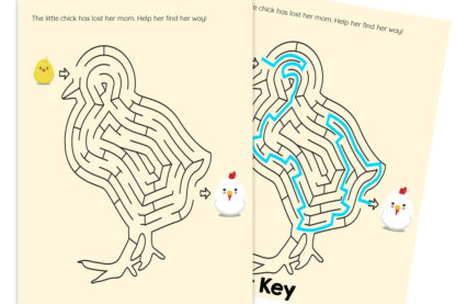 easter shapes mazes