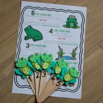 Five Little Speckled Frogs FREE Printable Word Sheet