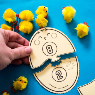 Egg and Chick Number Bonds Puzzles for Kids