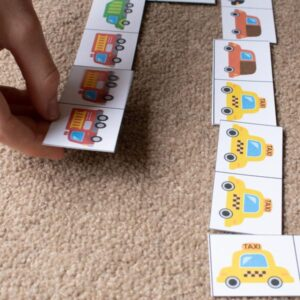 people who help us and community workers transport picture domino game for kids