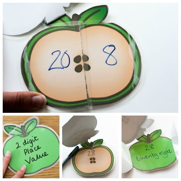 Apple place value booklet free printable