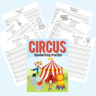 circus themed handwriting bundle