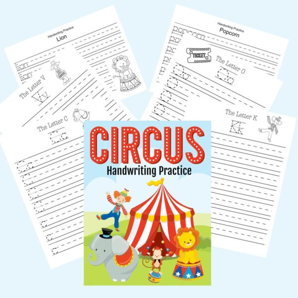 circus themed handwriting bundle