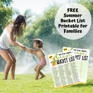 free printable summer bucket list for families