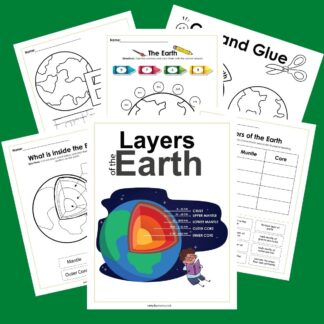 printable layers of the earth pack for multiple ages of children