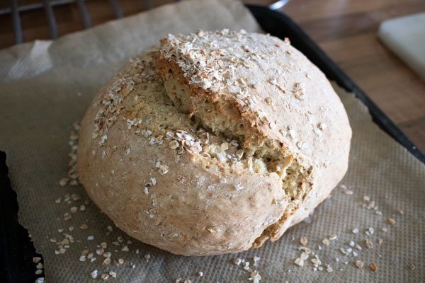 a loaf of viking bread made with the Viking Bread Recipe Card Printable